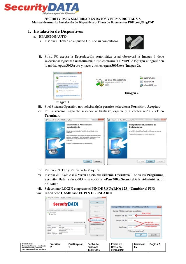 Manual de usuario instalaci n de dispositivos y firma con for Manual de acuicultura pdf