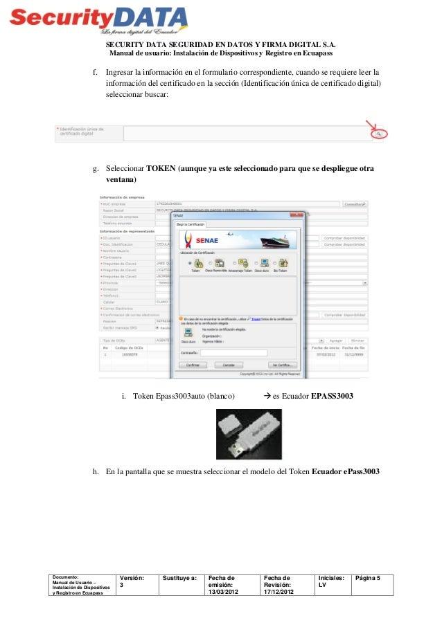 Manual de usuario: Instalación de dispositivos y registro