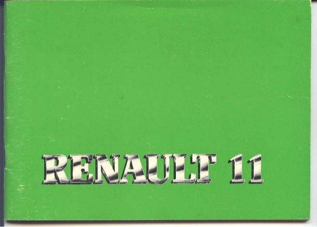 Manual de Usuario Renault 9/11 (1985)