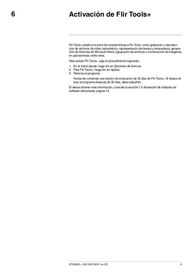 Manual de usuario flir tools