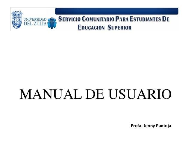 Hacer un manual de usuario.
