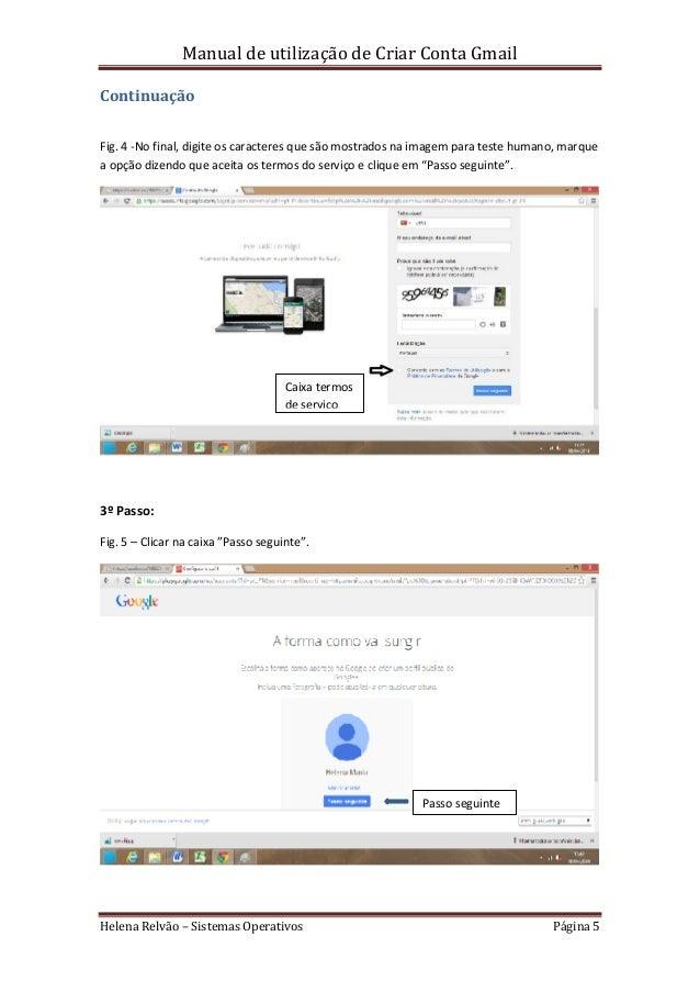 Manual de utiliza o criar conta gmail helena relv o for Manual para criar tilapias