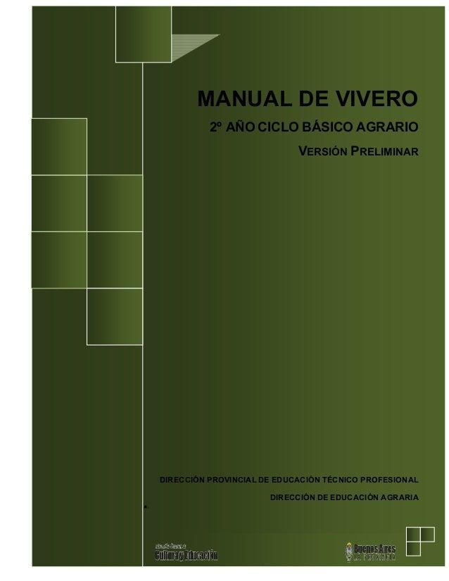 Manual de vivero for Manual de viveros forestales pdf