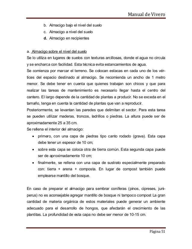 Manual de vivero for Caracteristicas del vivero