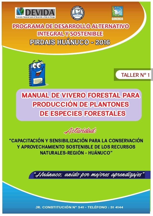 Manual de vivero forestal para producci n for Produccion de viveros