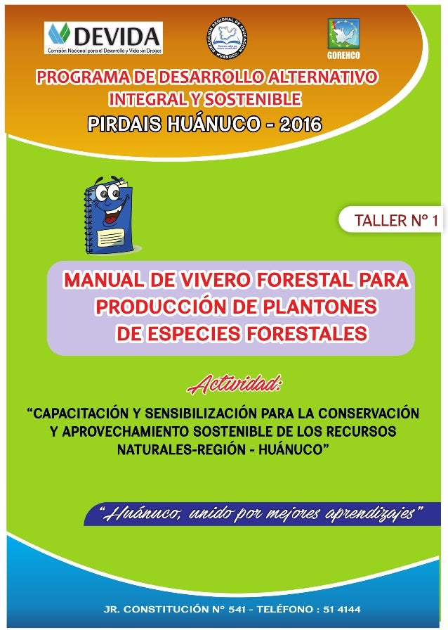 Manual de vivero forestal para producci n 2016 for Produccion de viveros