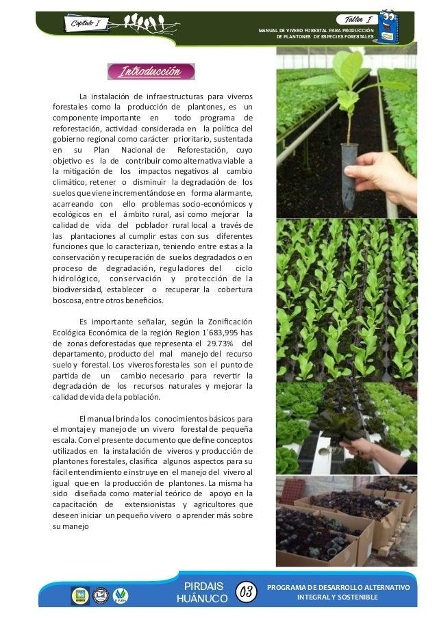 manual de vivero forestal para producci n 2016