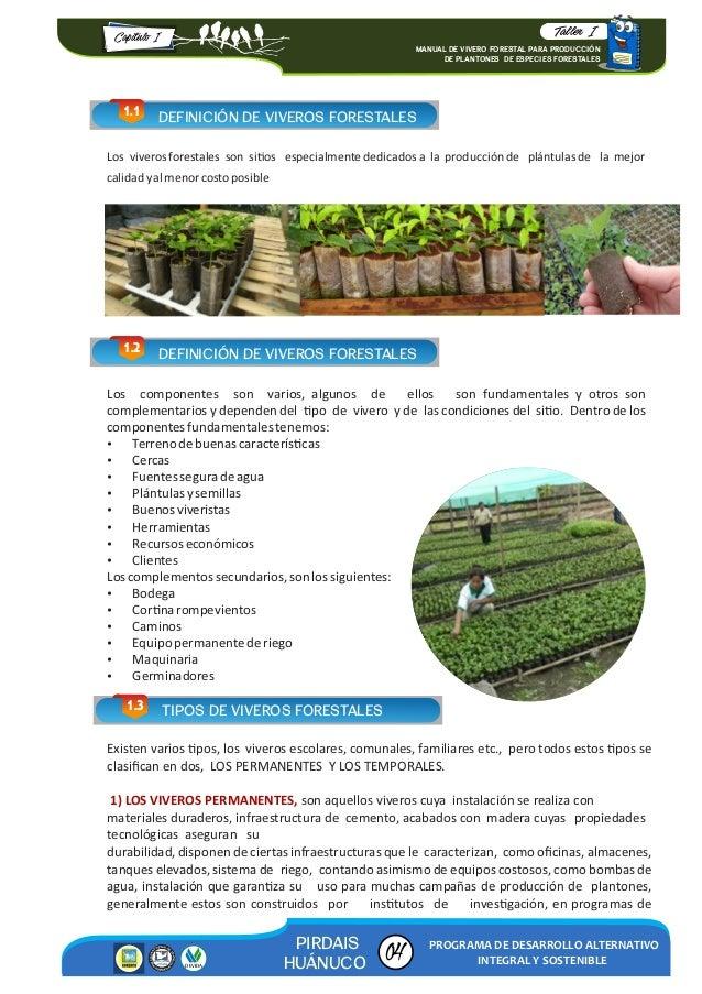 Manual de vivero forestal para producci n 2016 for Herramientas de un vivero