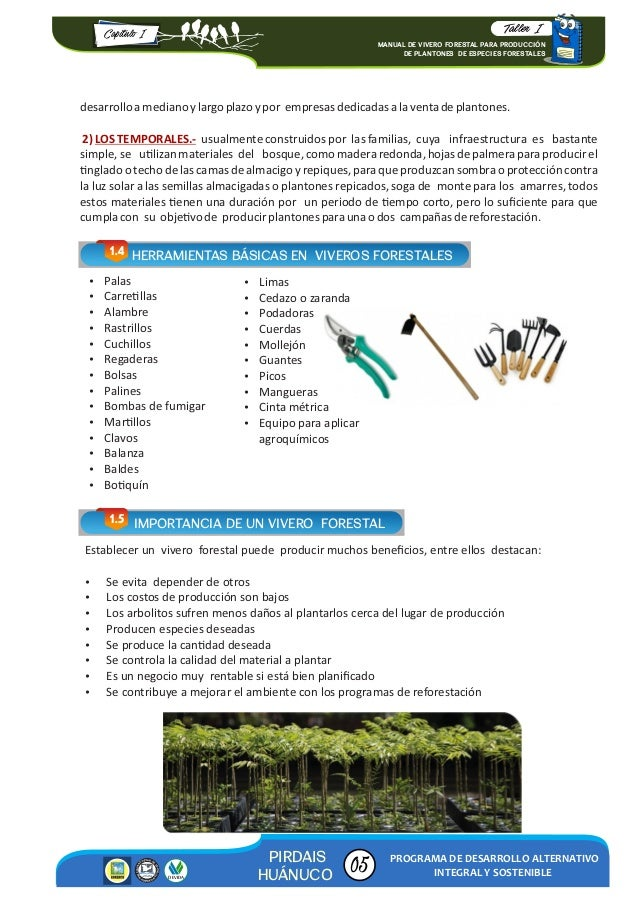 Manual de vivero forestal para producci n 2016 for Proyecto productivo de vivero forestal