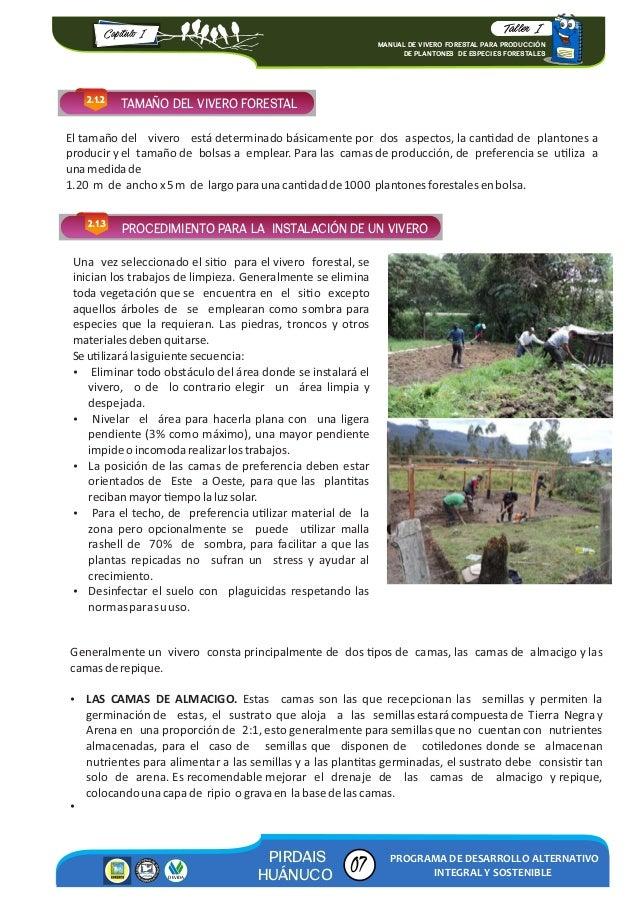Manual de vivero forestal para producci n 2016 for Preparacion de sustrato para viveros forestales