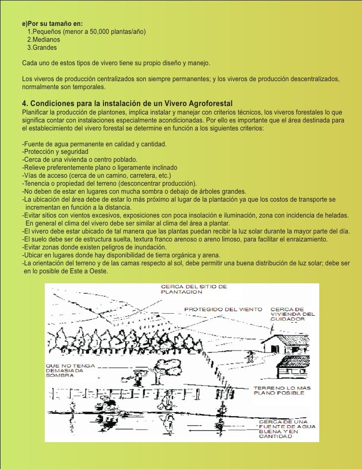 Manual de viveros biohuertos for Conclusion de un vivero