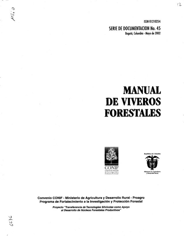 manual de viveros forestales ica On proyecto productivo de vivero forestal