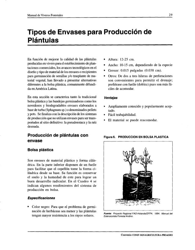 Manual de viveros forestales ica for Preparacion de sustrato para viveros forestales