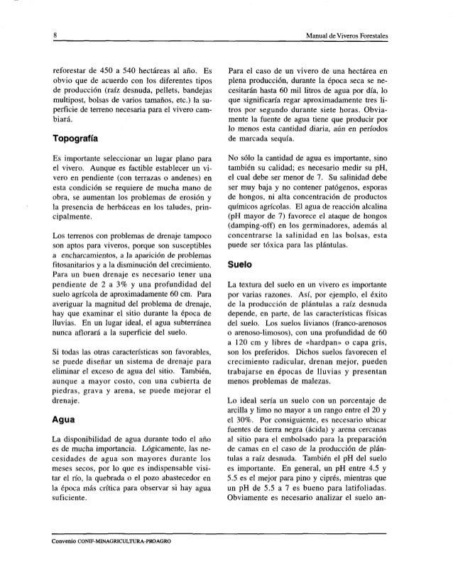 Manual de viveros forestales ica for Construccion de viveros forestales