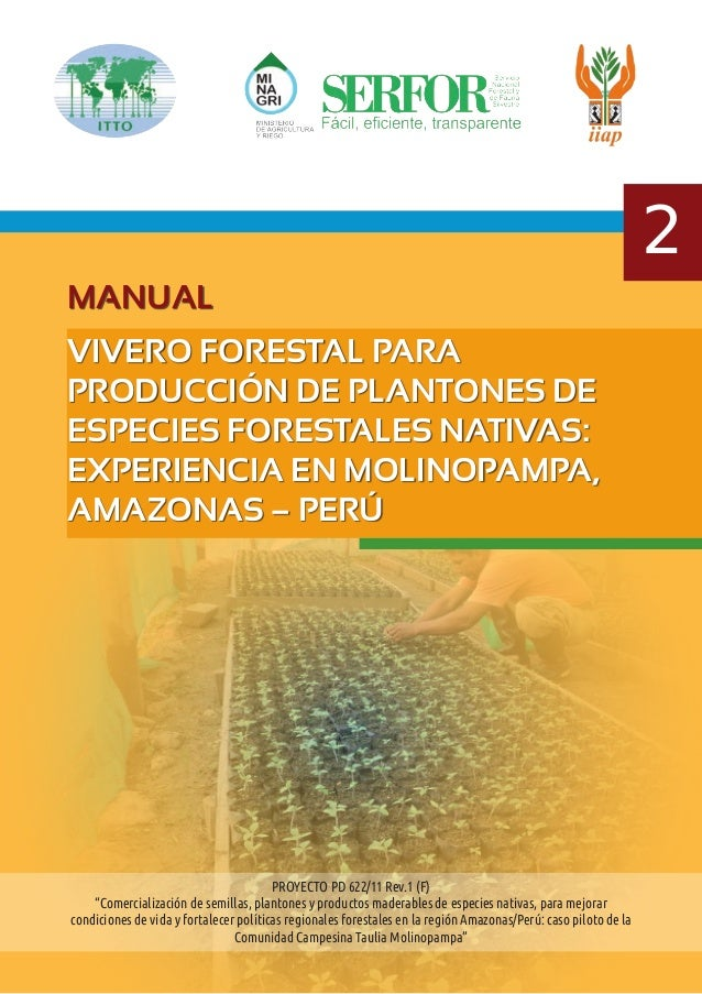 Manual de viveros forestales peru for Proyecto productivo de vivero forestal