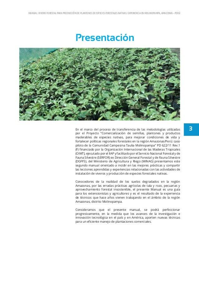 manual de viveros forestales peru