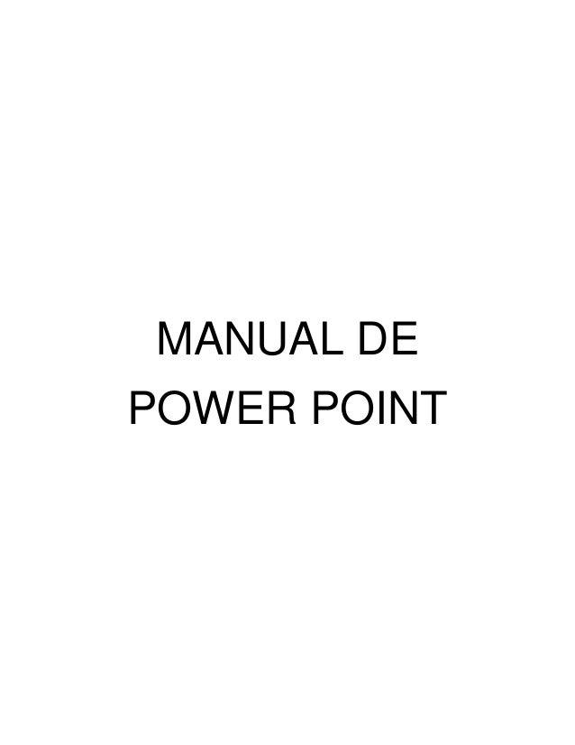 MANUAL DE POWER POINT