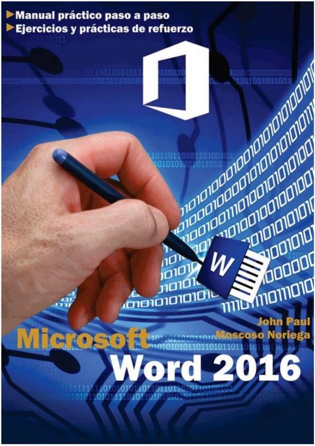 ÍNDICE Microsoft office Word 2016 UNIDAD I ..................................................................................