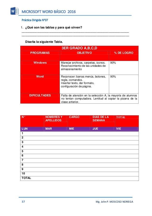 MICROSOFT WORD BÁSICO 2016 39 Mg. John P. MOSCOSO NORIEGA 7. Digitar la siguiente información en el organigrama. GERENTE V...