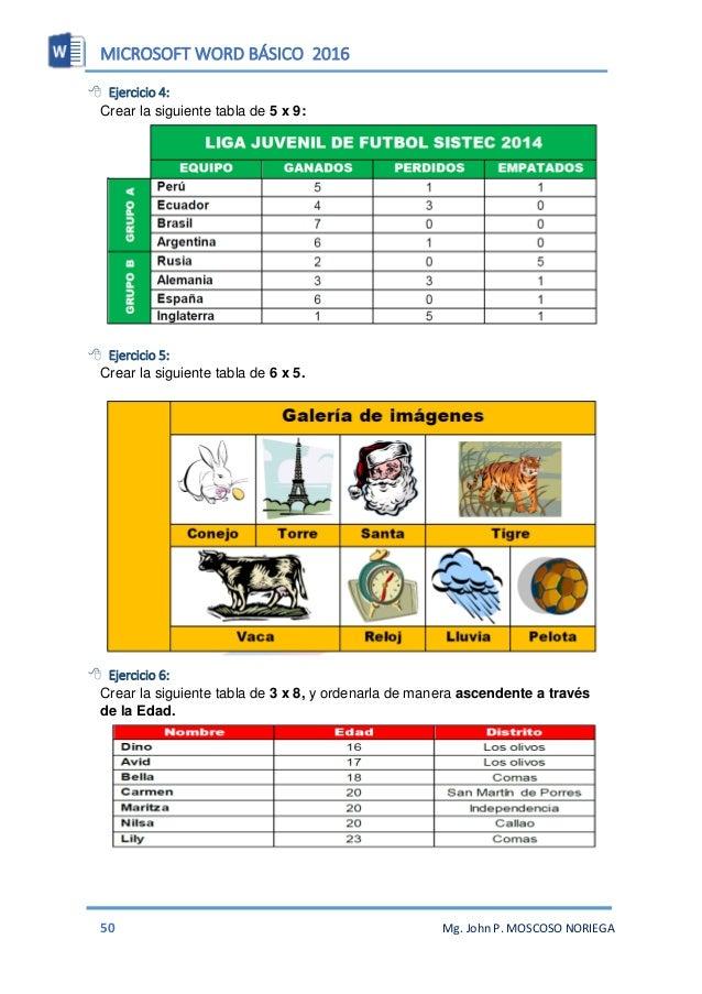 MICROSOFT WORD BÁSICO 2016 52 Mg. John P. MOSCOSO NORIEGA FORMAS CON IMÁGENES  Ejercicio 1: Al insertar una forma podemos...