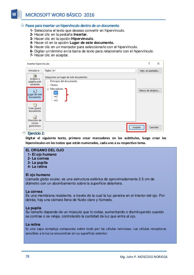 MICROSOFT WORD BÁSICO 2016 80 Mg. John P. MOSCOSO NORIEGA INSERTAR UN SÍMBOLO Puede utilizar la ventana de símbolo para in...