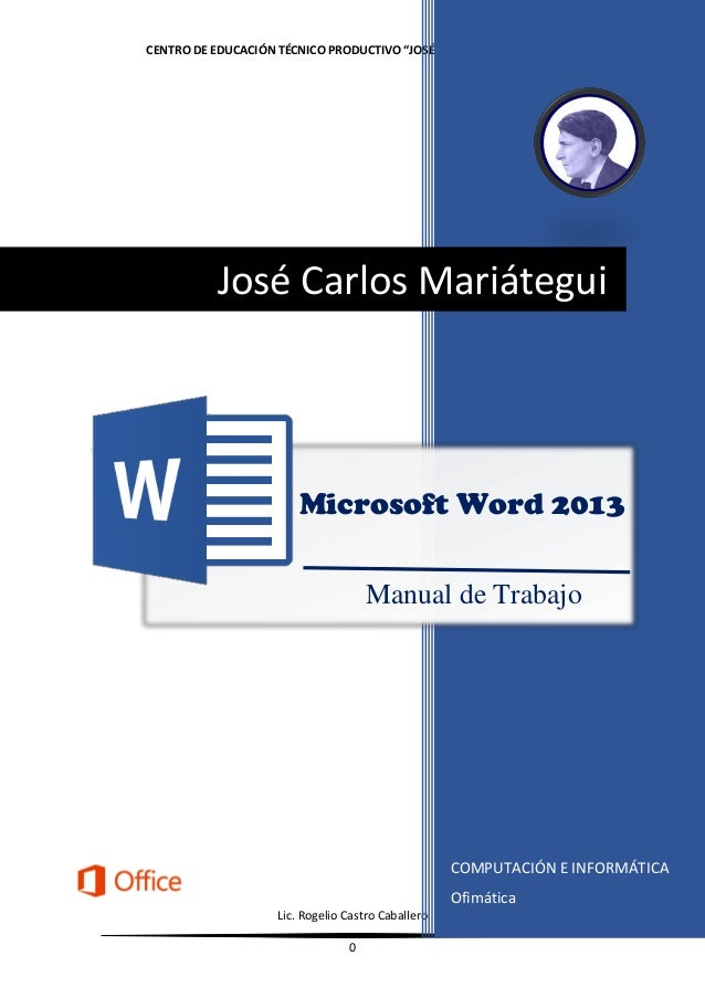 how to make a manual in word 2013