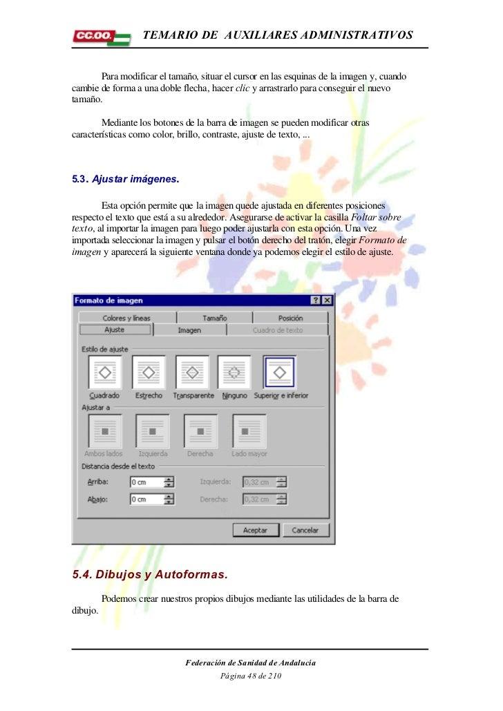 TEMARIO DE AUXILIARES ADMINISTRATIVOS       Para modificar el tamaño, situar el cursor en las esquinas de la imagen y, cua...