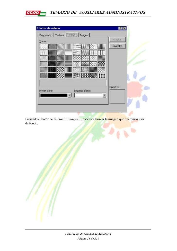TEMARIO DE AUXILIARES ADMINISTRATIVOSPulsando el botón Seleccionar imagen..., podemos buscar la imagen que queremos usarde...