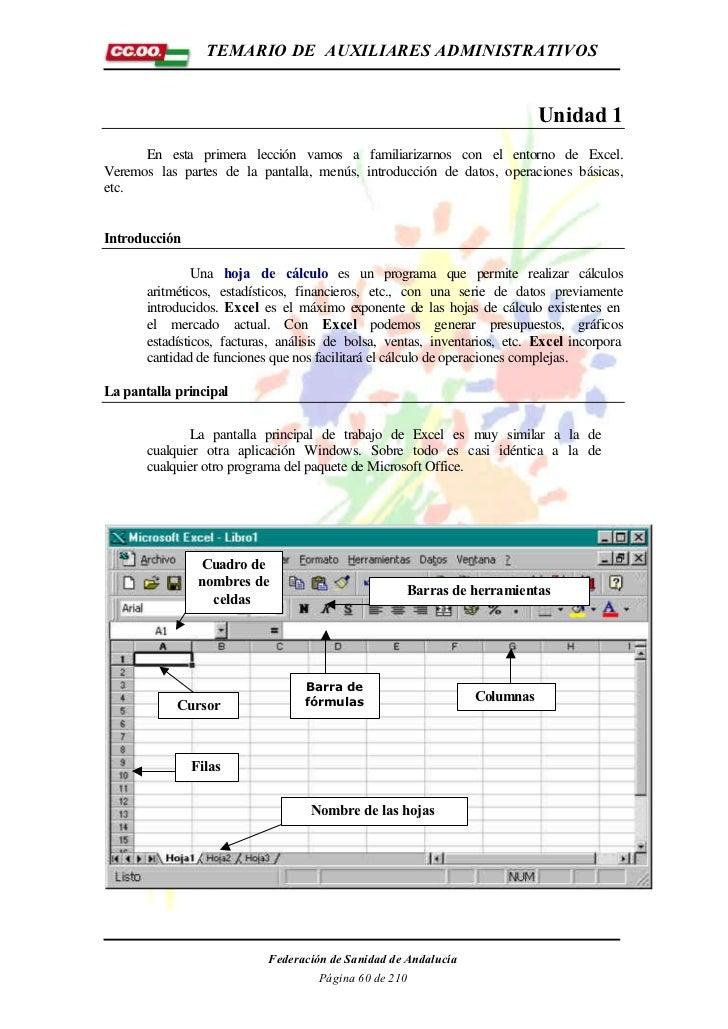 TEMARIO DE AUXILIARES ADMINISTRATIVOS                                                                            Unidad 1 ...