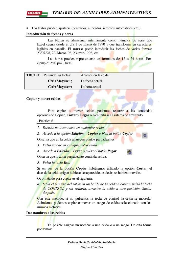 TEMARIO DE AUXILIARES ADMINISTRATIVOS•   Los textos pueden ajustarse (centrados, alineados, retornos automáticos, etc.)Int...