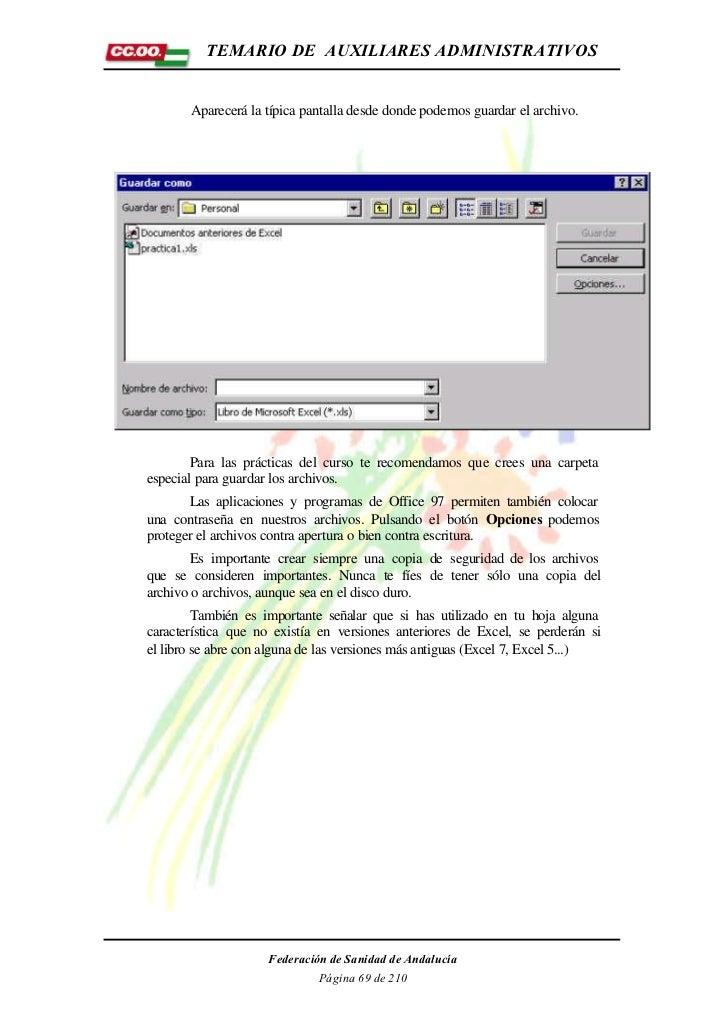 TEMARIO DE AUXILIARES ADMINISTRATIVOS       Aparecerá la típica pantalla desde donde podemos guardar el archivo.        Pa...