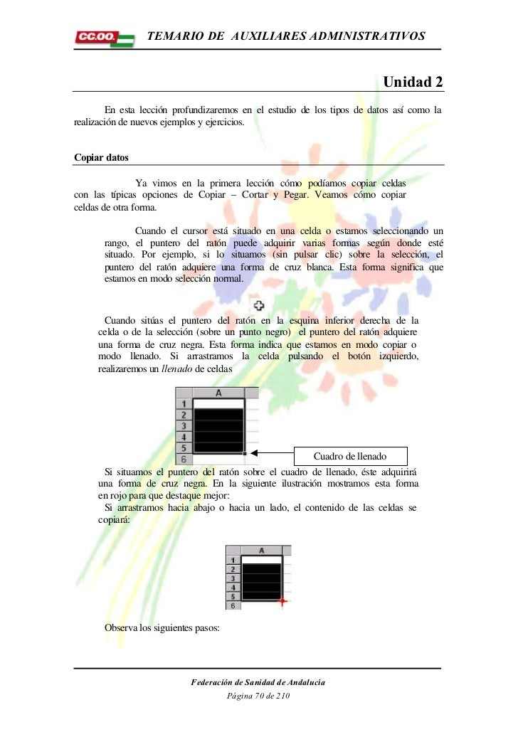 TEMARIO DE AUXILIARES ADMINISTRATIVOS                                                                         Unidad 2    ...