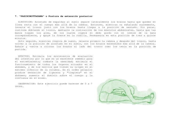 """8. """"BHUJANGASANA"""" o Postura de la Cobra    EJECUCION: Extendido en el suelo boca abajo, coloque las palmas de las manos en..."""