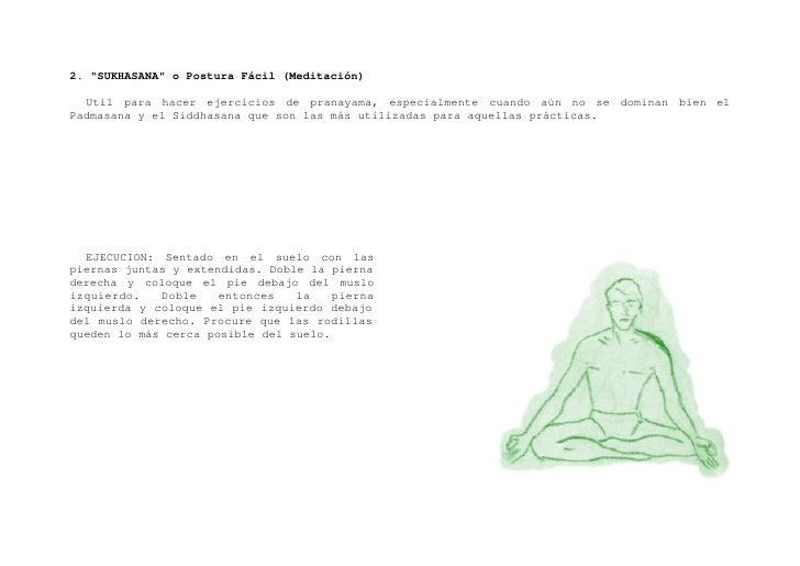 """3. """"PADMASANA"""" o Postura del Loto (Concentración, Meditación y pranayama).    Es el paso preliminar para otras posturas o ..."""