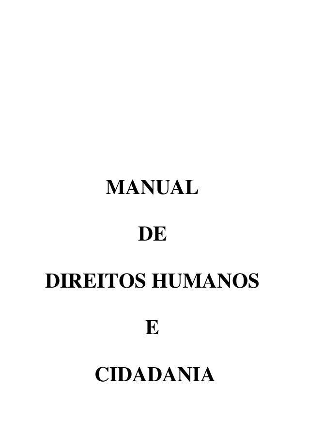 MANUAL DE DIREITOSHUMANOS E CIDADANIA