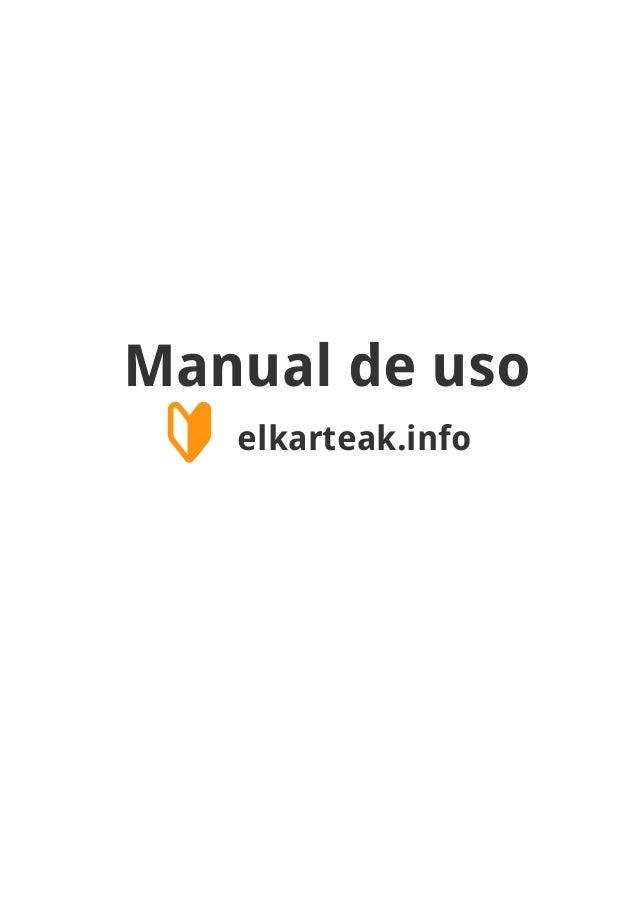 Manual de uso 🔰 elkarteak.info