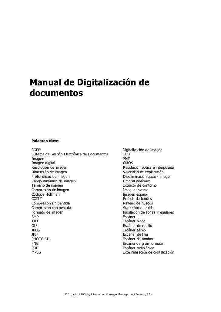 Manual de Digitalización dedocumentosPalabras clave:SGED                                                         Digitaliz...