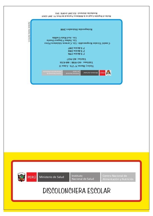 HechoelDepósitoLegalenlaBibliotecaNacionaldelPerúNº:2007-12815 ResoluciónJefatural-521-2007-J-OPD/INS Impresión:SolvimaGra...