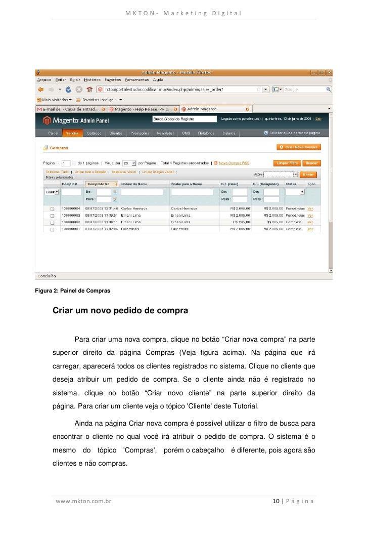 MKTON- Marketing DigitalFigura 2: Painel de Compras      Criar um novo pedido de compra              Para criar uma nova c...
