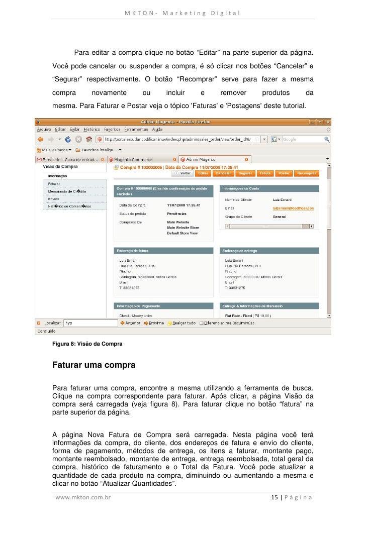 """MKTON- Marketing Digital       Para editar a compra clique no botão """"Editar"""" na parte superior da página.Você pode cancela..."""