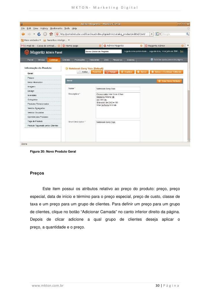 MKTON- Marketing DigitalFigura 20: Novo Produto GeralPreços       Este item possui os atributos relativo ao preço do produ...