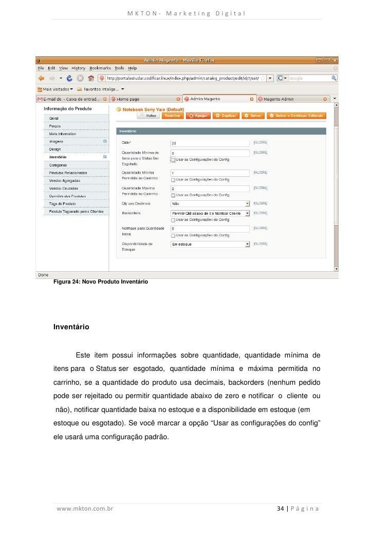 MKTON- Marketing DigitalFigura 24: Novo Produto InventárioInventário        Este item possui informações sobre quantidade,...