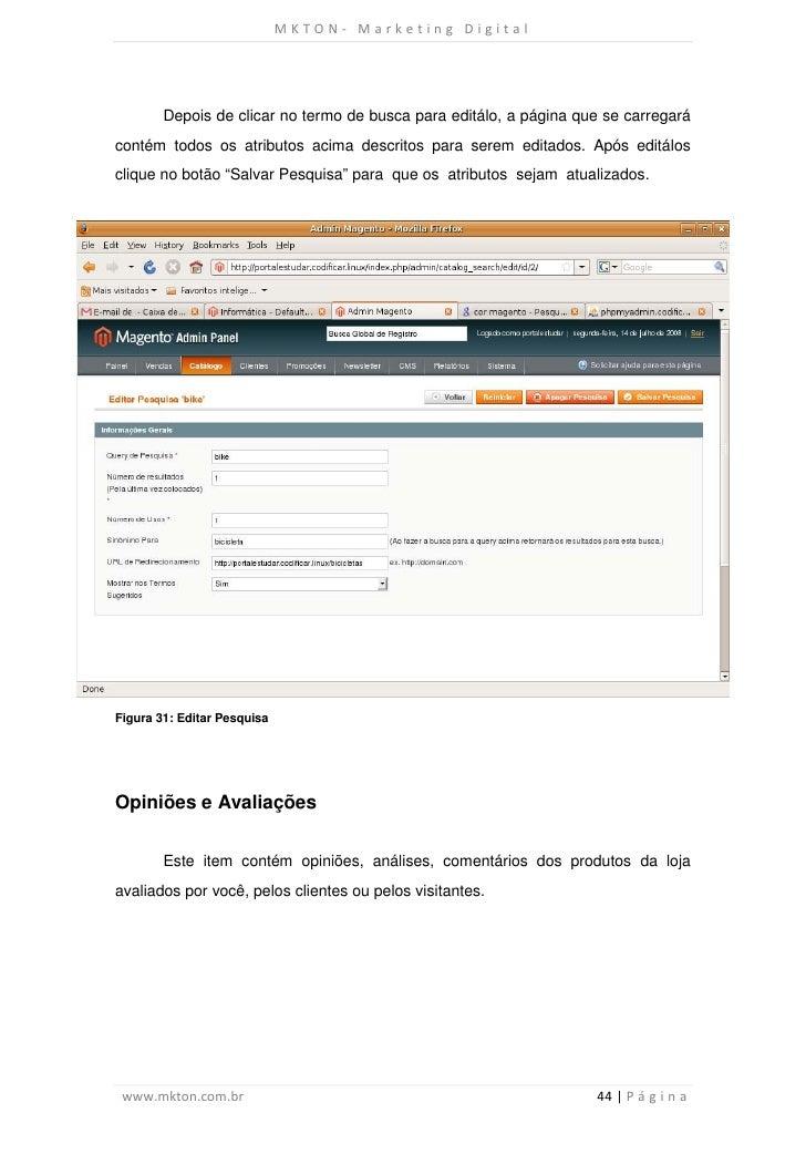 MKTON- Marketing Digital        Depois de clicar no termo de busca para editálo, a página que se carregarácontém todos os ...