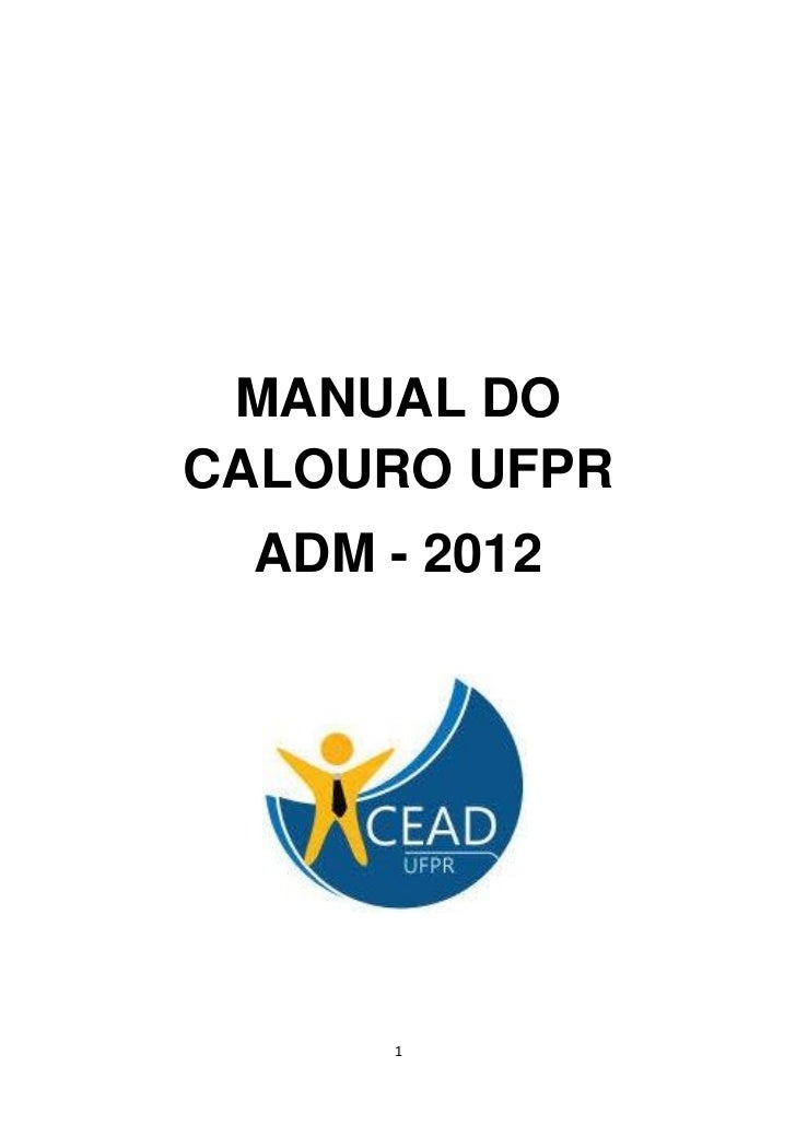 MANUAL DOCALOURO UFPR ADM - 2012     1