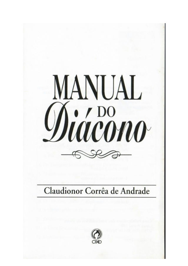 Manual do diácono claudionor de andrade