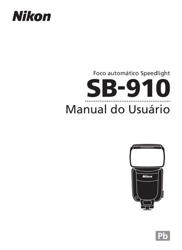 Manual do Usuário Foco automático Speedlight Pb