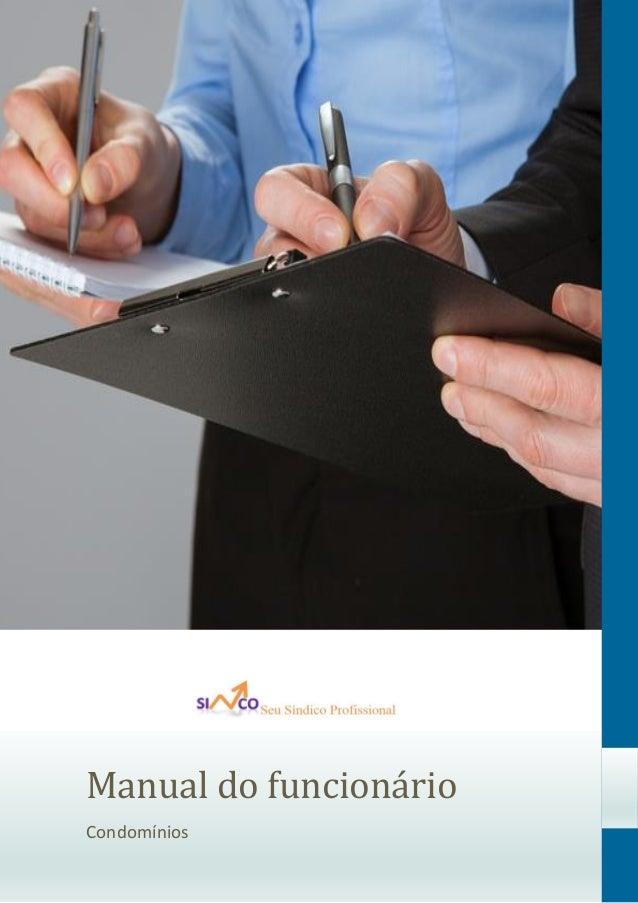 Manual do funcionario Condomínios