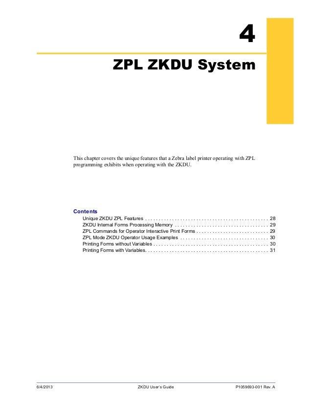 KDU Zebra - Manual do Dispositivo