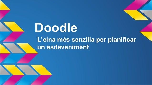 Doodle L'eina més senzilla per planificar un esdeveniment