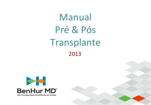 Manual Pré & Pós Transplante 2013